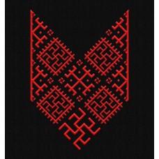 Nové Pánske tričko Bylina Odoleň čierne- vyšívaný vzor