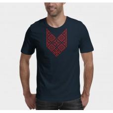Nové Pánske tričko Bylina Odoleň modré- vyšívaný vzor