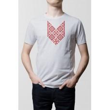 Nové Pánske tričko Bylina Odoleň sive- vyšívaný vzor