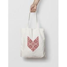 Malá taška Bylina Odoleń biela -  vyšívaný vzor