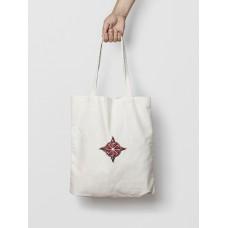 Malá taška Kolovrat biela -  vyšívaný vzor