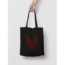 Malá taška Bylina Odoleń čierna -  vyšívaný vzor