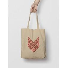 Malá taška Bylina Odoleń hnedá -  vyšívaný vzor