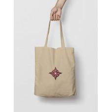 Malá taška Kolovrat hnedá -  vyšívaný vzor
