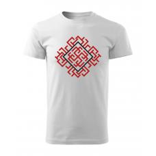 Biele pánske tričko s tlačeným symbolom Rodimič