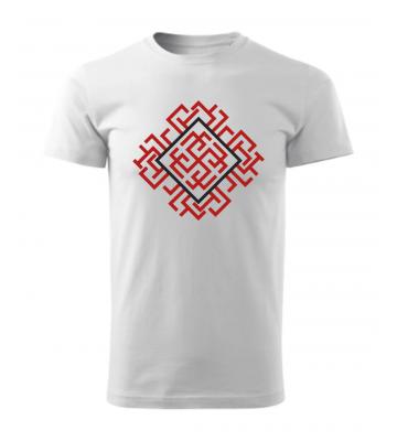 Biele pánske tričko s vyšívaným symbolom Rodimič