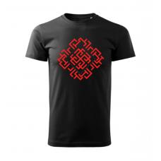 Čierne pánske tričko s vyšívaným symbolom Rodimič