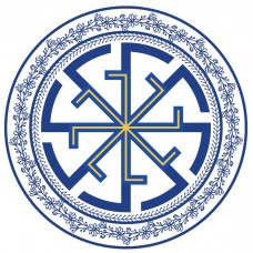 Biele dámske tričko s tlačeným symbolom Svitovit kruh