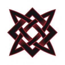 Biela pánska polokošeľa s tlačeným symbolom Svarog pri srdci