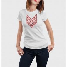 Biele dámske tričko s vyšívaným symbolom Bylina Odoleň